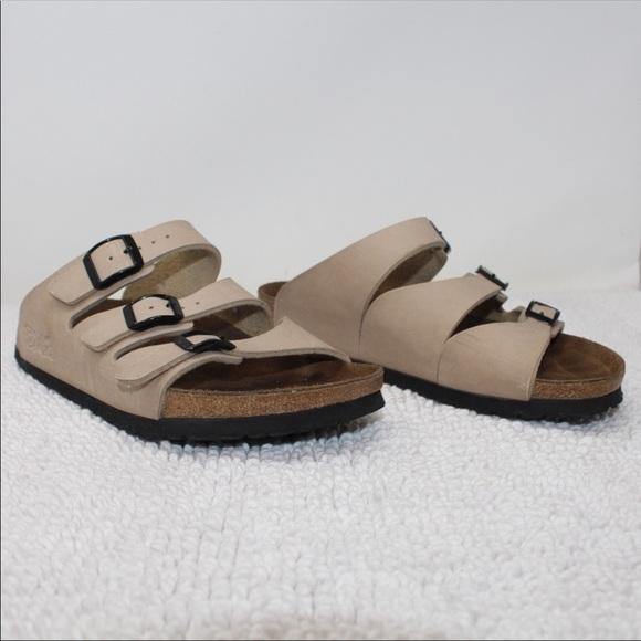7f9b83f25d1 Birkenstock Shoes - Birkenstock Birkis Size 37 US 6 Three Strap Sandal